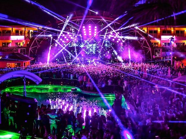 A shot of the Ushuaia nightclub during the Heineken Ibiza Final on May 24, 2014