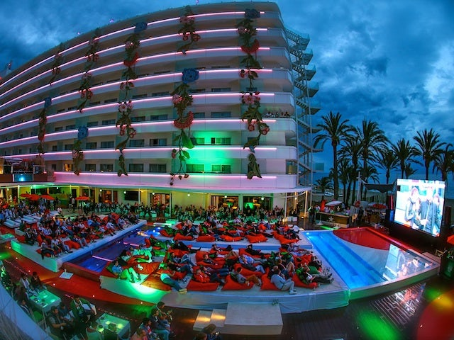 A shot of the Ushuaia Beach Hotel during the Heineken Ibiza Final on May 24, 2014