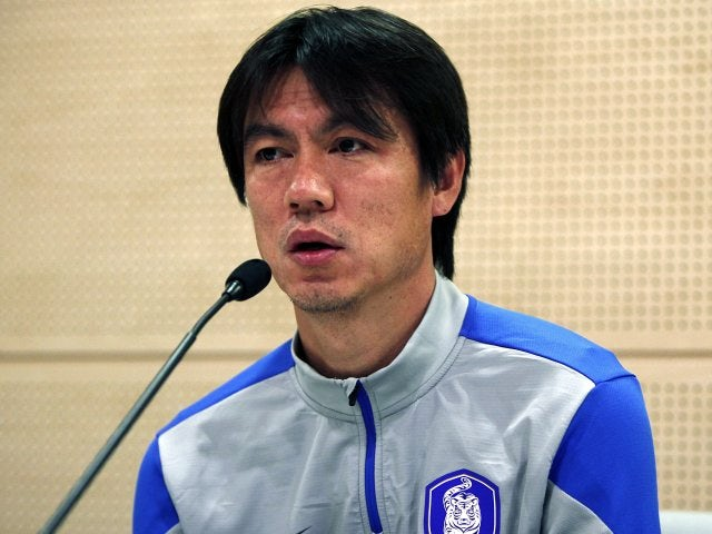 South Korea head coach Hong Myung-Bo attends a press conference on March 04, 2014.