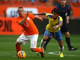 Holland midfielder Jordy Clasie in action against Ecuador on May 17, 2014.