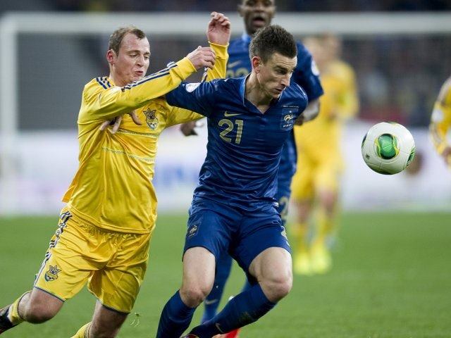 Arsenal defender Laurent Koscielny in action for France against Ukraine on November 15, 2013.
