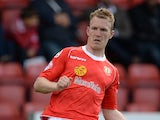 Mark Ellis of Crewe Alexanders during their Sky Bet League One match against Peterborough United at the Alexandra Stadium on September 7, 2013