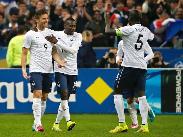 Result: Giroud brace leads France rout