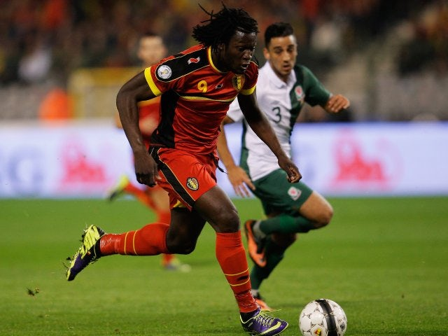 Romelu Lukaku in action for Belgium against Wales on October 13, 2013.