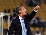 Ivory Coast head coach Sabri Lamouchi shouts out instructions on the touchline on January 30, 2013.