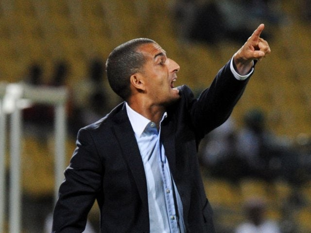 Ivory Coast head coach Sabri Lamouchi shouts out instructions on the touchline on January 30, 2013.