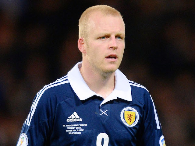 Steven Naismith of Scotland in action during the FIFA 2014 World Cup Qualifying Group A match between Scotland and Croatia at Hampden Park on October 15, 2013
