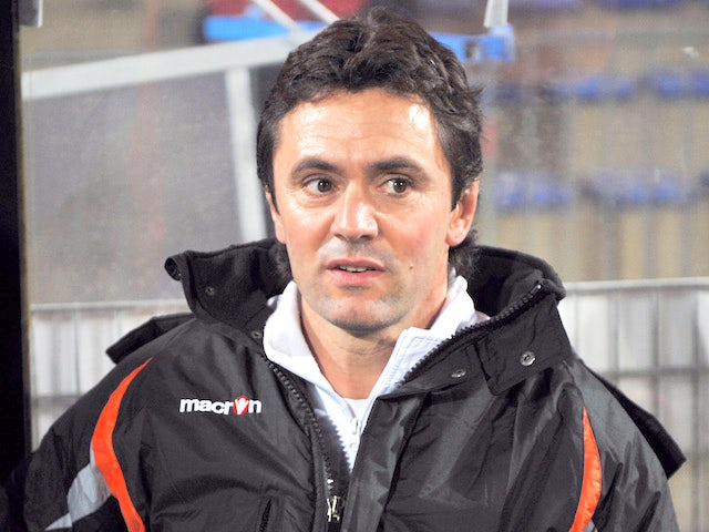 Lorient's second coach assistant Sylvain Ripoll is seen during the French L1 football match Lorient vs Sochaux, on January 28, 2012