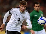 Germany's Thomas Muller in action against the Republic of Ireland on October 12, 2012.
