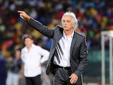 Algeria coach Vahid Halilhodzic shouts orders from the touchline on January 26, 2013.