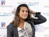 Former French tennis player Amelie Mauresmo speaks at a press conference on January 31, 2013.