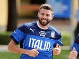 Andrea Barzagli of Italy during a training session at Coverciano on May 26, 2014