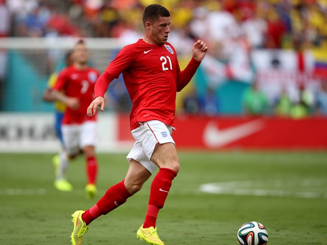 Ross Barkley in action during the International friendly match between England and Ecuador at Sun Life Stadium on June 4, 2014