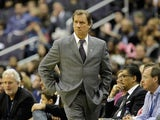 Washington Wizards head coach Flip Saunders looks on from the sideline during a game against the Minnesota Timberwolves at the Verizon Center on March 5, 2011