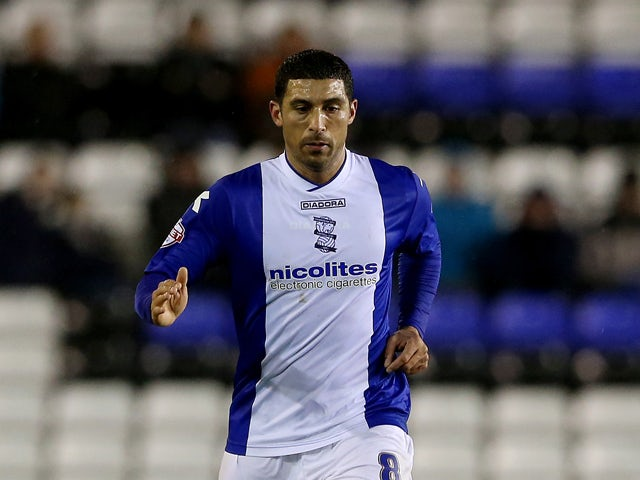 Hayden Mullins of Birmngham during the FA Cup Third Round match between Birmingham City and Bristol Rovers at St Andrews (stadium) on January 14, 2014