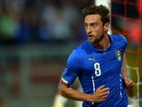 Italy's midfielder Claudio Marchisio celebrates after scoring during the friendly football match between Italy and Luxembourg on June 4, 2014