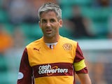 Keith Lasley of Motherwell in action during the Scottish Premiership League match between Hibernian and Motherwell at Easter Road on August 04, 2013