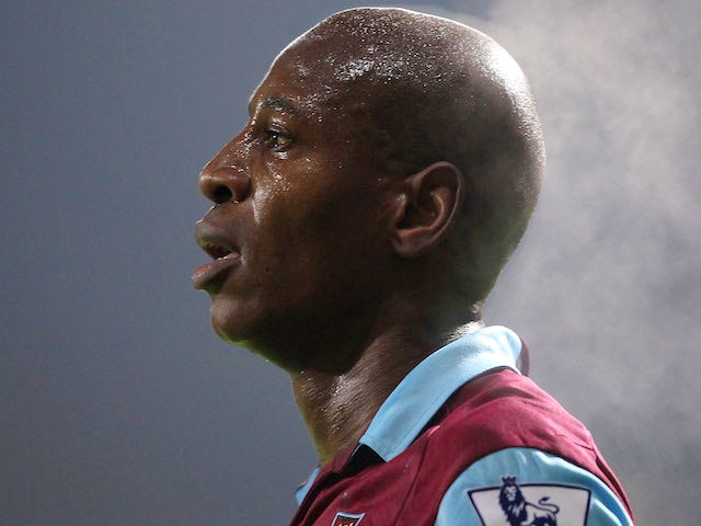 Luis Boa Morte of West Ham United looks on during the Barclays Premier League match between West Ham United and Everton at the Boleyn Ground on December 28, 2010