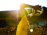 Neymar of Brazil in action during the International Friendly against Panama at Serra Dourada Stadium on June 3, 2014 in Goiania, Brazil