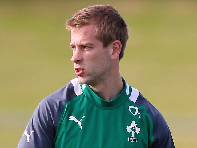 Stephen Ferris of Ireland warms up during the Ireland team training session at Onewa Domain on June 4, 2012