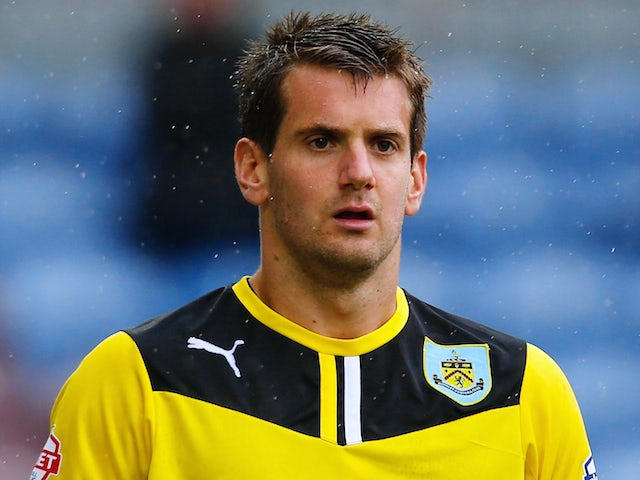 Tom Heaton of Burnley watches on during the Sky Bet Championship match between Burnley and Yeovil Town at Turf Moor on August 17, 2013