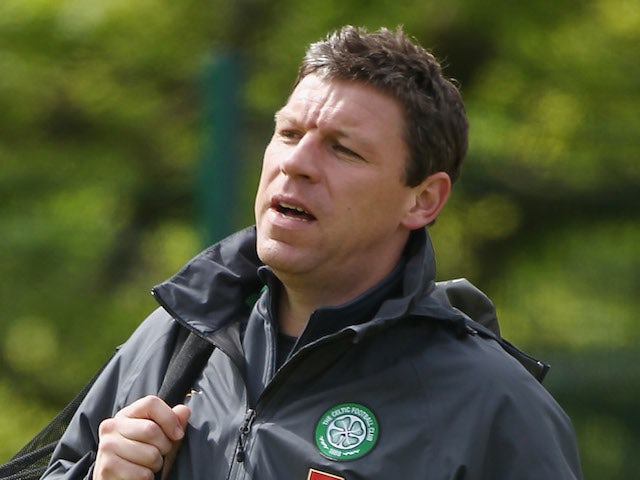 Alan Thompson, first team coach of Celtic attends a team training session in Lennoxtown on May 13, 2011