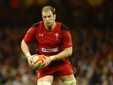 Alun Wyn Jones of Wales in action during the RBS Six Nations match between Wales and Scotland at Millennium Stadium on March 15, 2014