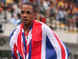 Chijindu Ujah of Great Britain celebrates after winning the Men's 100m Final during the European Athletics Junior Championships 2013 on July 19, 2013