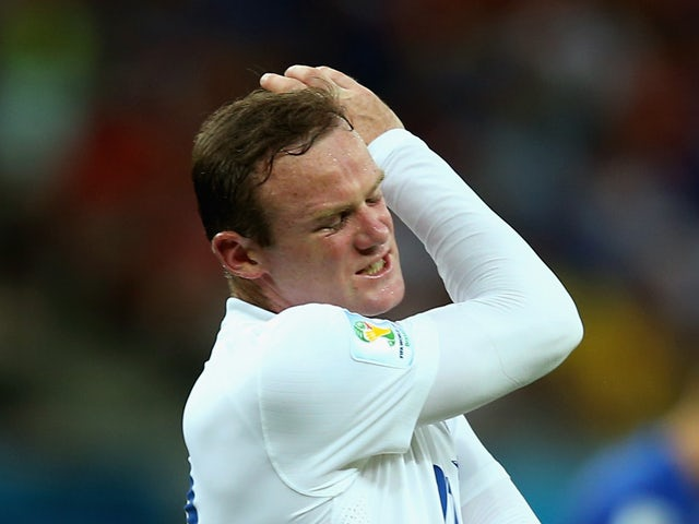 Wayne Rooney of England reacts during the 2014 FIFA World Cup Brazil Group D match between England and Italy at Arena Amazonia on June 14, 2014
