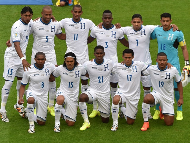 Honduras  pose before the Group E football match between France and Honduras at the Beira-Rio Stadium in Porto Alegre during the 2014 FIFA World Cup on June 15, 2014