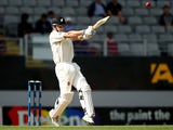 Kane Williamson of New Zealand bats during day one of the First Test match between New Zealand and India at Eden Park on February 6, 2014