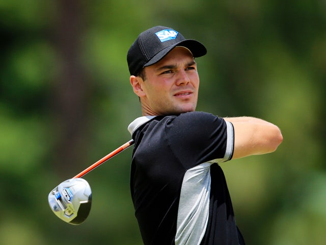 Martin Kaymer of Germany watches his tee shot on the eighth hole during the second round of the 114th U.S. Open at Pinehurst Resort & Country Club, Course No. 2 on June 13, 2014