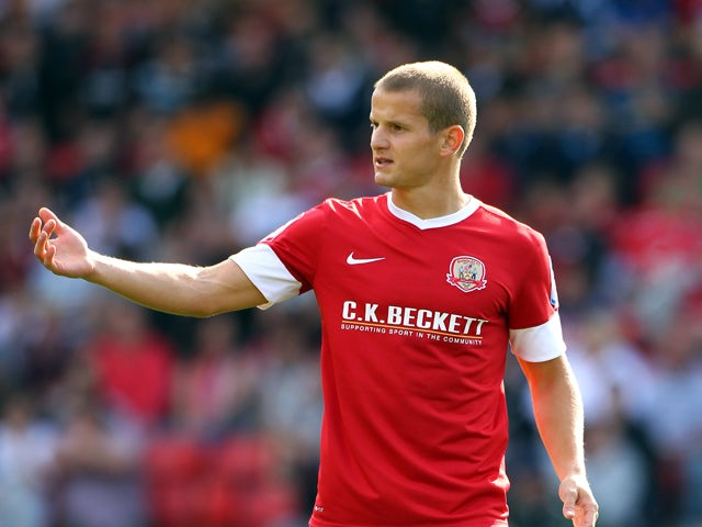 Barnsley's Tomasz Cywka during the npower Championship match between Barnsley and Blackpool at Oakwell Stadium on September 15, 2012