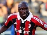 Bakaye Traore of AC Milan in action during the Serie A match between Pescara and AC Milan at Adriatico Stadium on May 8, 2013