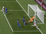Bryan Ruiz of Costa Rica scores his team's first goal past Gianluigi Buffon of Italy during the 2014 FIFA World Cup Brazil Group D match on June 20, 2014