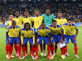 Ecuador pose for a team photo prior to the 2014 FIFA World Cup Brazil Group E match between Honduras and Ecuador at Arena da Baixada on June 20, 2014