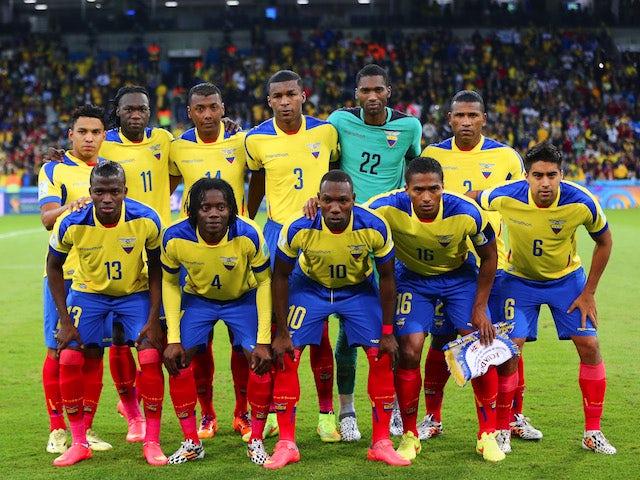 Ecuador pose for a team photo prior to the 2014 FIFA World Cup Brazil Group E match between Honduras and Ecuador at Arena da Baixada on June 20, 2014