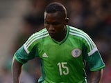 Ejike Uzoenyi of Nigeria in action during the International Friendly match between Nigeria and Scotland at Craven Cottage on May 28, 2014