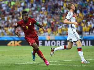 Gyan: 'Germany point has given us belief'