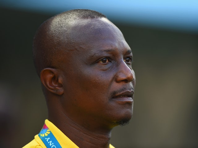 Head coach James Kwesi Appiah of Ghana looks on prior to the 2014 FIFA World Cup Brazil Group G match between Germany and Ghana at Castelao on June 21, 2014