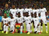 Ghana players pose for a team photo before the 2014 FIFA World Cup Brazil Group G match between Ghana and the United States at Estadio das Dunas on June 16, 2014