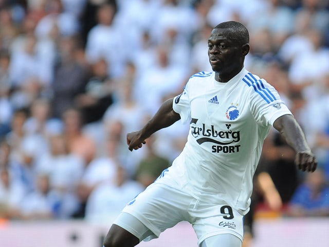 Igor Vetokele of FC Copenhagen in action during the Danish Superliga match between FC Copenhagen and Randers FC at Parken Stadium on August 4, 2013