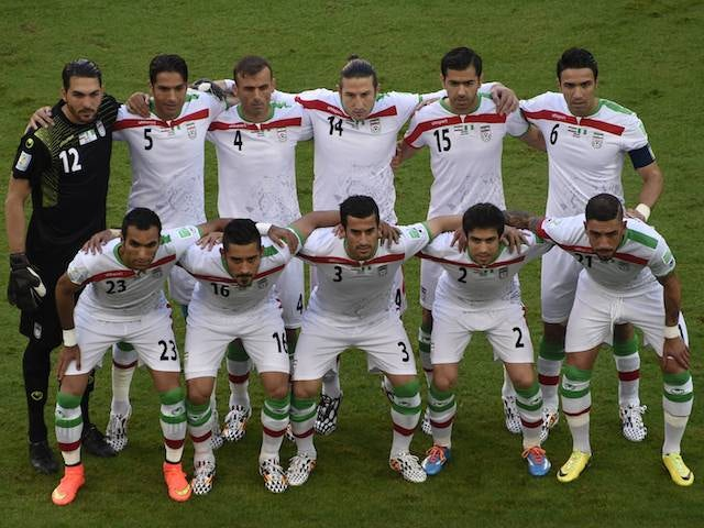 Iran team to play Nigeria on June 16, 2014.
