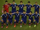 Japan lineup before their game with Greece on June 19, 2014