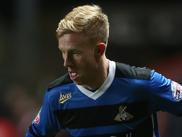 Mark Duffy of Doncaster Rovers during the Sky Bet Championship match between Charlton Athletic and Doncaster Rovers at The Valley on November 26, 2013