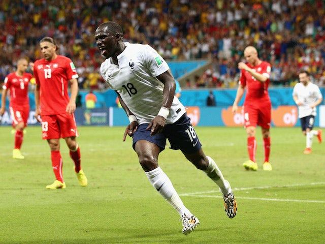 Moussa Sissoko of France celebrates scoring his team's fifth goal during the 2014 FIFA World Cup Brazil Group E match against Switzerland on June 20, 2014