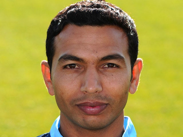 Naveed Arif Gondal of Sussex poses for a portrait in CB40 kit during the Sussex CCC photocall at the County Ground on April 2, 2012