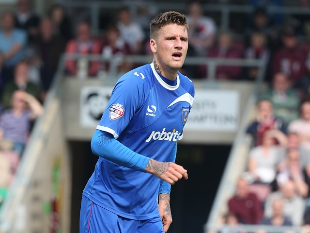 Sonny Bradley of Portsmouth in action during the Sky Bet League Two match between Northampton Town and Portsmouth at Sixfields Stadium on April 21, 2014