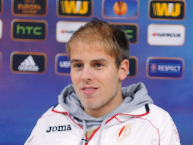 Standard de Liege's player Yoni Buyens attends a press conference on November 6, 2013