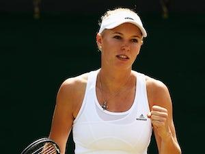 Result: Wozniacki through to second round
